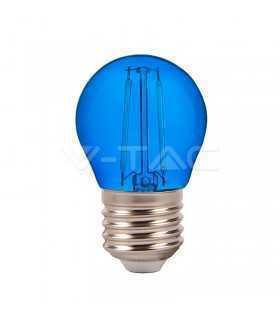 Bec LED G45 E27 2W cu filament lumina albastra V-TAC