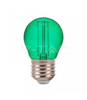 Bec LED G45 E27 2W cu filament lumina verde V-TAC