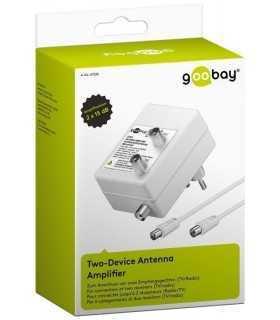 Amplificator semnal TV/antena DVB-T DVB-T2 DVB-C 2x 15dB Goobay
