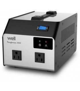 Convertor tensiune 220V - 110V 1000VA 2 iesiri Well