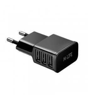 Incarcator retea 3x USB 3A max 1A+1A+2A M-LIFE