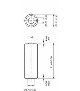 Baterie alcalina GP29A 9V 18mAh 7.7x21.4mm 1buc