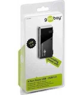 Hub USB 4 port cu alimentator 5V 2A Goobay