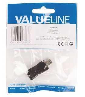 Adaptor USB 2.0 USB micro USB (B) mama - mini USB 5 pini tata Valueline