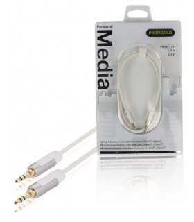 Cablu audio stereo Jack 3.5mm tata - 3.5mm tata 1m OFC alb Profigold