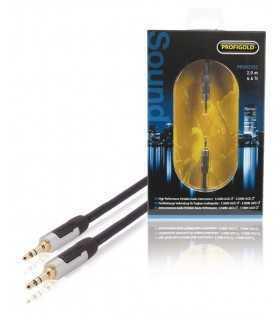 Cablu audio stereo Jack 3.5mm tata-tata 2m OFC Profigold