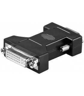 Adaptor DVI-I 24+5 mama la 15 pini HD tata VGA Goobay