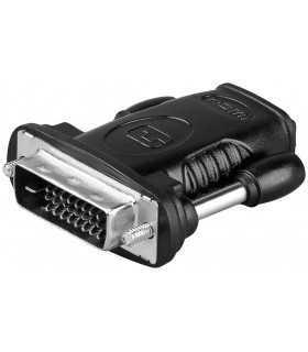 Adaptor HDMI 19 pini mama la DVI-D 24+1 pini tata Goobay