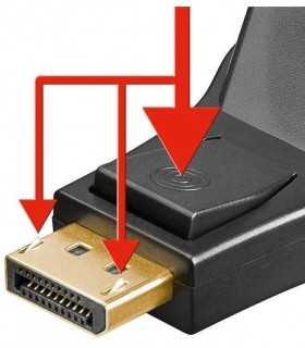 Adaptor DisplayPort 20 pini tata la DVI-I 24+5 mama v1.1 Goobay