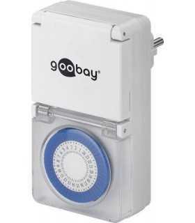 Priza programabila mecanica pentru exterior Goobay
