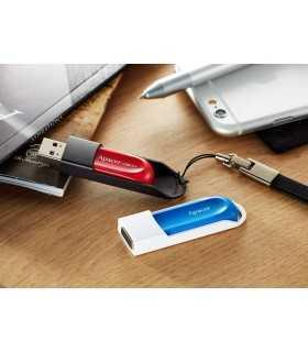 Memorie flash USB 2.0 64GB retractabila Apacer rosu