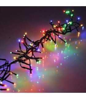 Ghirlanda luminoasa decorativa 196 LED multicolor cablu negru well