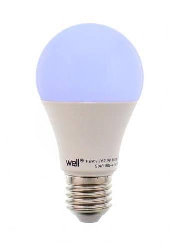 Bec cu LED A60 E27 9W 810lm 230V lumina RGB +lumina naturala 4000K +telecomanda Well