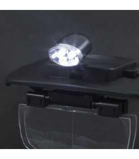 Lupa de cap cu iluminare LED cu lentila dubla Handy