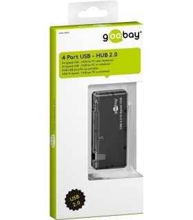 Mini HUB USB 4 port 2.0 negru Goobay