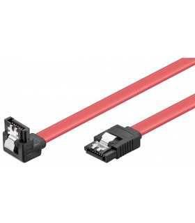 Cablu hdd sata L la sata L 90 grade cu clip 50cm Goobay