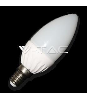 Bec LED 4W E14 220V lumanare alb V-TAC