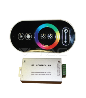 Controller Banda LED RGB cu TOUCH 12V/24V 3A x4 144W V-TAC