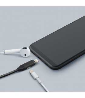 Cablu de date 2in1 iPad iPhone lightning 1m 2A negru delight