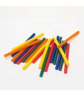Set baton plastic termoadeziv silicon 7mm x 10cm colorat 20buc HANDY