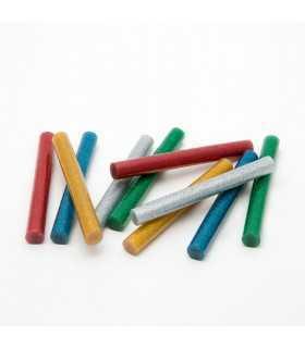 Set baton plastic termoadeziv silicon 11mm x 10cm colorat glitter stralucitor 10buc HANDY