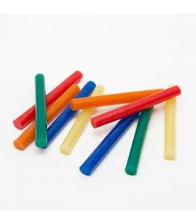 Set baton plastic termoadeziv silicon 11mm x 10cm colorat 10buc HANDY