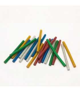 Set baton plastic termoadeziv silicon 7mm x 10cm colorat glitter stralucitor 20buc HANDY