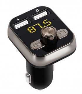 Modulator FM auto cu 2x USB 2.1A+1A +microSD +Bluetooth V4.0