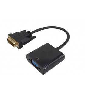 Cablu adaptor DVI-D 24+1 tata la VGA mama 0.2m