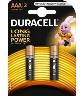Baterii alcaline AAA R03 DURACELL BASIC 2buc/blister