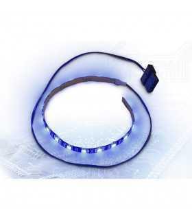Banda LED Inter-Tech albastra 30cm Molex