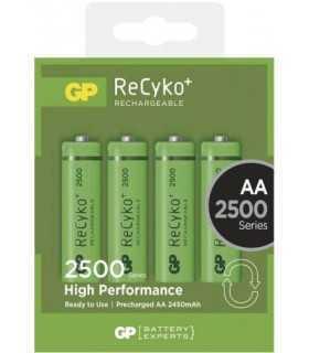 Acumulatori AA R6 NiMH Recyko+ 2500mAh 1.2V 4buc/blister GP