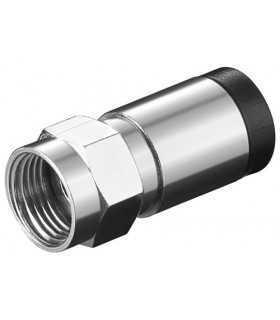 Mufa conector F tata cu compresie pentru cabluri cu diametrul exterior de 7mm Well