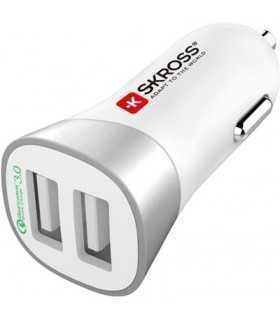 Incarcator auto 12-24V 2x USB Quick Charge 3.0 QC3.0 Skross