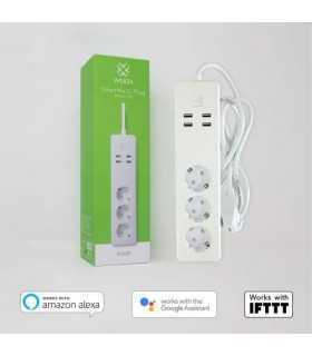 Prelungitor smart Woox R4028 3 prize +4x USB 1.8m
