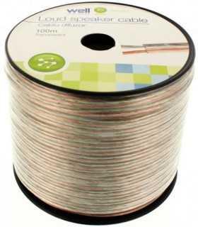 Cablu difuzor transparent 2x1.5mm Well