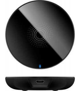 Incarcator fara fir wireless 5W negru pentru telefoane inteligente si dispozitive standard QI Goobay