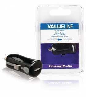 Incarcator USB pentru auto masina 12V 1x USB 2.1A negru Valueline