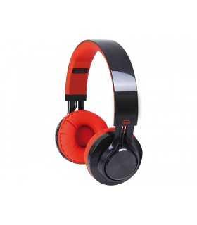 Casti multimedia cu Bluetooth V2.1 Radio MP3 microSD rosu/negru Trevi