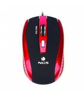 Mouse optic 800/1600dpi USB rosu/negru NGS
