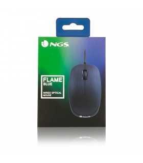Mouse USB 1000dpi albastru FLAME BLUE Ngs