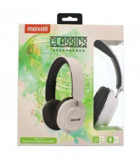 Casti clasice alb stereo cu fir Maxell