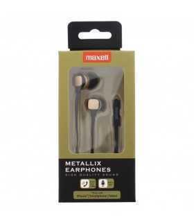 Casti Metallix Aurii Maxell cablu plat cu microfon