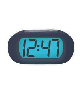 Ceas cu alarma afisaj LCD albastru Quartz 3x AAA