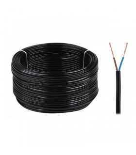 Cablu electric OMY 2X0.75 300V negru Cabletech