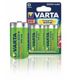Acumulatori Varta Ni-Mh mono D R20 1.2V 3000mAh Ready to use 2buc