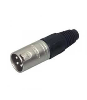 Conector XLR 3 pini tata metalic Neutrik
