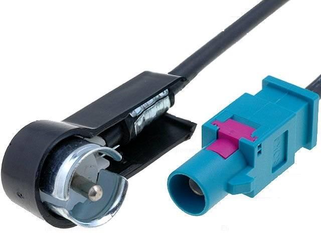 Adaptor antena radio auto FAKRA tata la ISO DIN tata 90 grade 4CarMedia