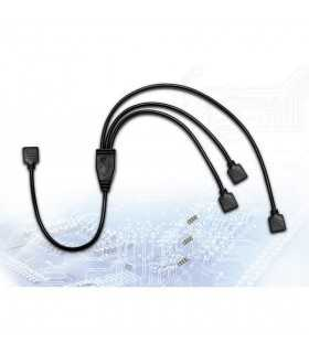 Splitter RGB Inter-Tech 2x 15cm 1x 25cm cablu 48cm