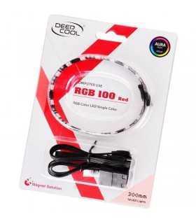 Banda LED Deepcool 100 rosie 30cm